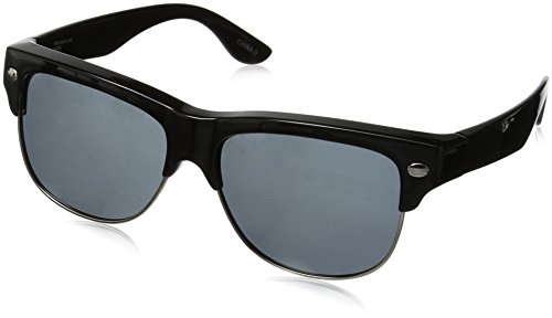 Solar Shield Fairfax Polarized Square Sunglasses, Black, 57 - Solar Sunglasses Amazon Shield