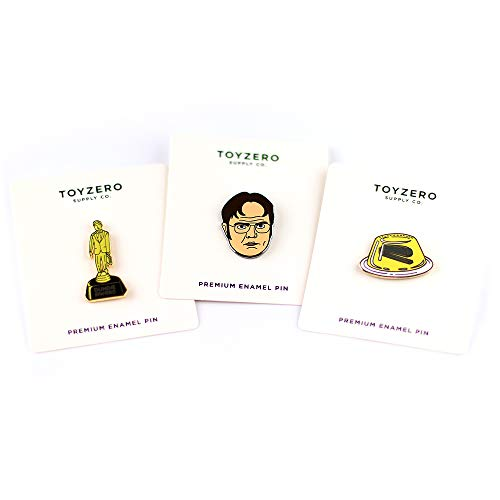 Chili Dwight Dundie Award Prison Mike Schrute Farms Beets Office Enamel Pins