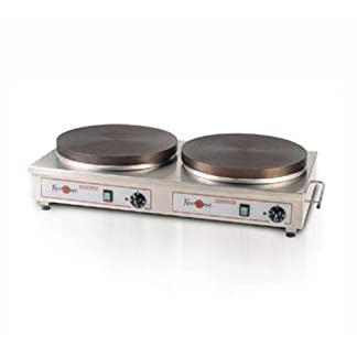 DUAL 2x 16  inch //40cm PROFESSIONAL Commercial industrial Restaurant TEFLON COATED Thermostat Control Non Stick DOUBLE COOKERS Pan Electric Snack Pancake CREPE Maker Griddle Machine 220V