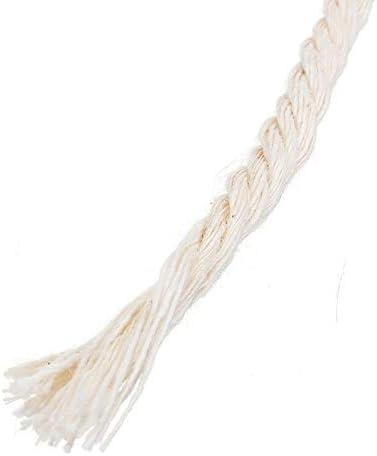 SODIAL 1 Pcs Durable 4Mmx100 M/èTres Naturel Beige Blanc Macram/é Coton Corde Torsad/éE Corde DIY Textile /à la Maison Accessoires Artisanat