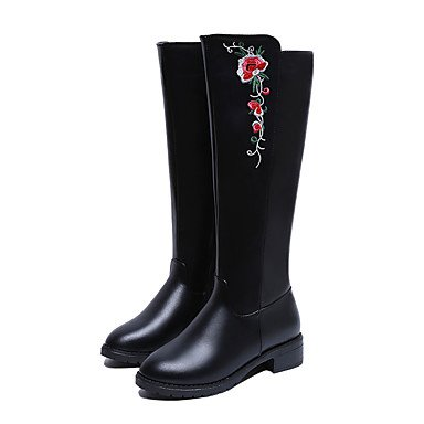 Black Winter Shoes Casual CN35 UK3 US5 Comfort 5 RTRY Pu Fall Boots Flat Heel Knee Boots For EU36 5 Women'S High wIOU5q6
