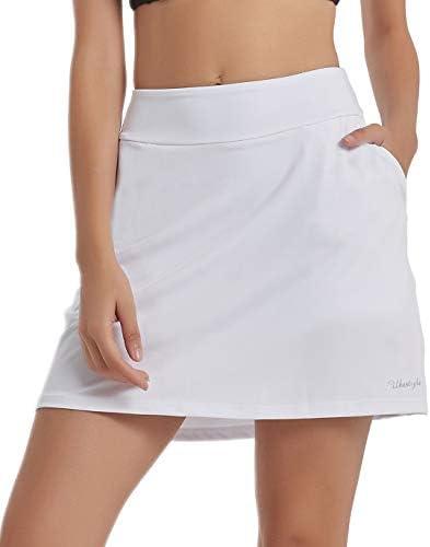 Ubestyle UPF 50+ Women's Active Athletic Skirt Sports Golf Tennis Running Skort with Pockets
