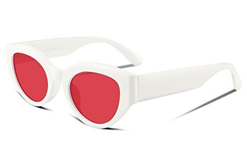 FEISEDY Cateye Clout Goggles Sunglasses Brand Impression Acetate Frame UV400 HD Lens - Kurt Brand Sunglasses Cobain