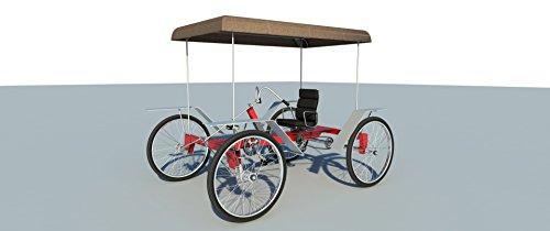 Pedal Car Plans - Build your own 4 wheel pedal bike car (DIY Plans) Pedicab, rickshaw