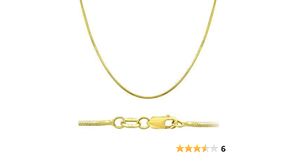 14K Yellow,White Gold Solid Snake Chain With Spring Ring,Gold Chain Necklace,Make Your Own Necklace Chain