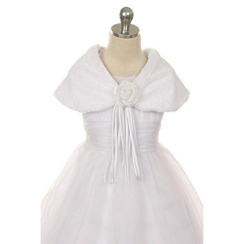 Kids Dream White Flower Shoulder Wrap Elegant Shawl Girl 8