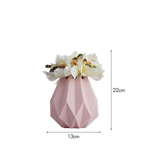THEALEEWIN Origami Ceramic Vase   Simulation Calla Lily Ornaments Home Decorations Creative   Fashion ()