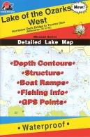 Lake of the Ozarks West Waterproof Fishing Map (Missouri Fishing Map Series, L158)
