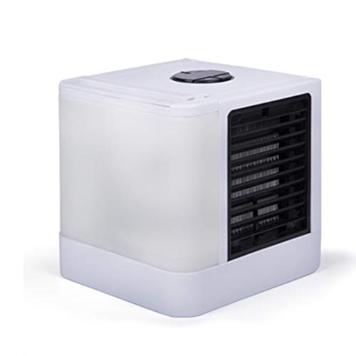 LIANGLIANG Air Conditioner Portable Purifier Add Water Refrigeration Mini Mute Mobile Desktop Office Plastic, USB Interface (Color : White, Size : 14.514.517cm) by LIANGLIANG-kongtiao