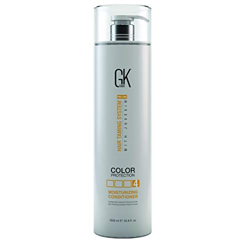 Global Keratin GKhair Moisturizing Conditioner Color Protection | Organic Oil Extracts - Sulfate,Paraben Free - For Damaged and Dry Hair Conditioning - Women & Men | All Hair Types - 33.8 fl.oz/ 300ml by GKhair (Image #2)