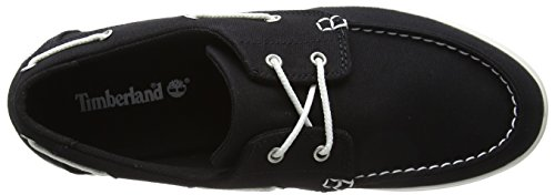 Timberland Herren Newport Bay 2-eye Canvas Mokassin Zwart (canvas 001)