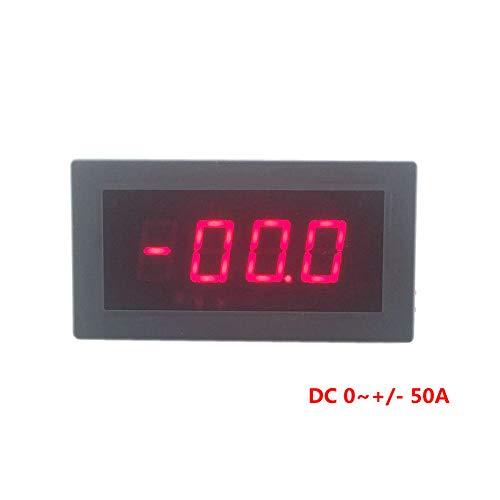 FidgetFidget Digital Ammeter Ampere Panel Meter Current Monitor DC 0~+/-50A Red LED Display