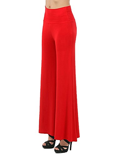 Small-shop Ladies Loose Pants Casual high Waist Women Pants Plus Size All-Match Pants Female,Red,M by Small-shop