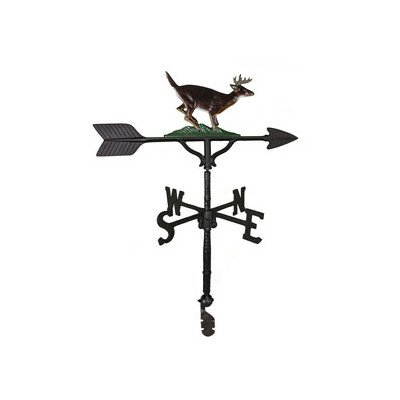 Montague Metal Products 32-Inch Weathervane with Color Buck Ornament