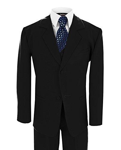 Little Boy's Formal Dresswear Set G186 (5, Black/Blue) by Gino Giovanni
