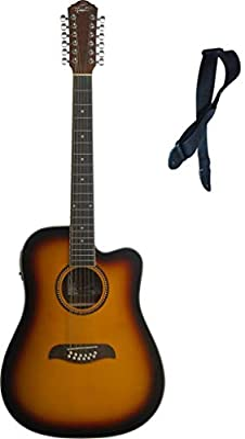 Oscar Schmidt de 12 cuerdas guitarra acústica/eléctrica, libre ...
