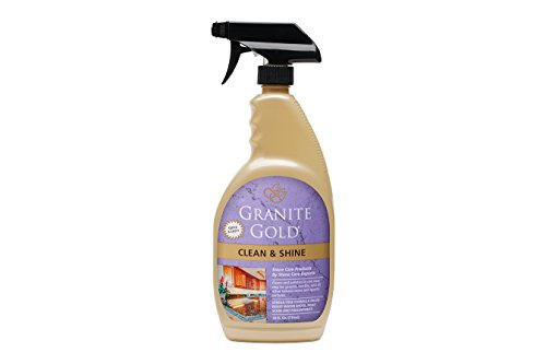 Granite Gold Clean & Shine granite cleaner and polish, streak-free formula for countertops, quartz, marble, tile, kitchens and baths, 24 oz. (Quartz Bath)