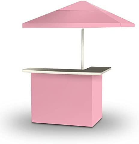 Best of Times 2001W1325 Pink Solid Portable Bar and 8 ft Tall Square Umbrella, One Size