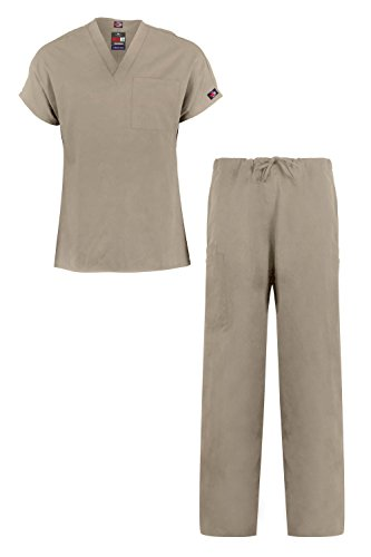 MediFit Men's Basic Solid Two Piece Medical Top & Pants Scrub (Clothes Catalogues)