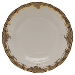 Herend China Fish Scale Brown Dessert (Scale China)
