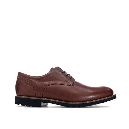 Rockport Herren Modern Break Plaintoe Oxford Schnürhalbschuhe Braun (Brown Leather)