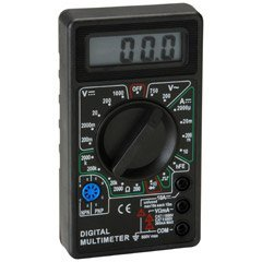 3-1/2 Digit 19 Range Digital Multimeter with Transistor (Multimeter Transistor Test)