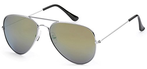 5Zero1 Air Force Metal Frame Classic Men Women Revo Mirrored Aviator Sunglasses