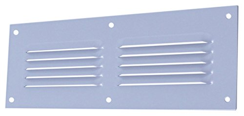 XLS-Air 1L-3010AL Flat Aluminium Fixed Louvered Ventilator - Silver