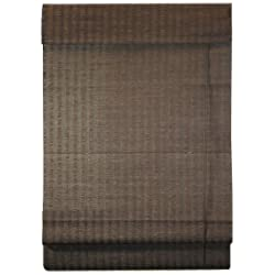 Lewis Hyman 0775139 Natural Fiber Bamboo Roman Shade, 39-Inch Wide by 72-Inch Long, Espresso