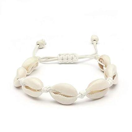 SANDIN 1 Pieces Bracelet Coquillage Femme Cheville Bresilien Bracelet  Coquille Naturelle Bohème Charm Cowrie Shells Bijoux