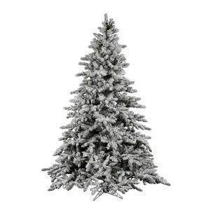 Vickerman Flocked Utica with 1650 Tips, 7.5-Feet by 65-Inch (Trees Christmas Flocked)
