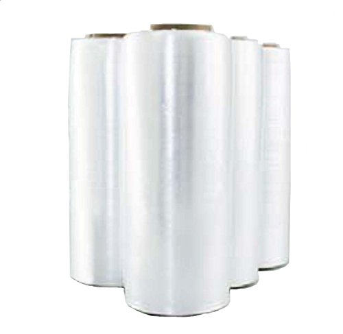 (Amtopp 4 Rolls US Made Hand Stretch Wrap - 7.6 micron, 30 mil, 15 inch, 1,968 ft)