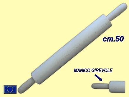 MATTARELLO DA CUCINA IN LEGNO CM. 50 C/MANICO GIREVOLE: Amazon.it ...