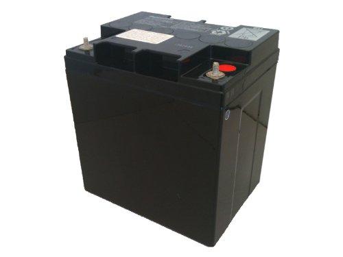 Panasonic LC-X1228AP Black Large 12V 28Ah VRLA Battery with Internal Thread Terminal -