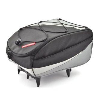 PLETSCHER Freizeit Tasche mit easy-fix Adapter schwarz silber