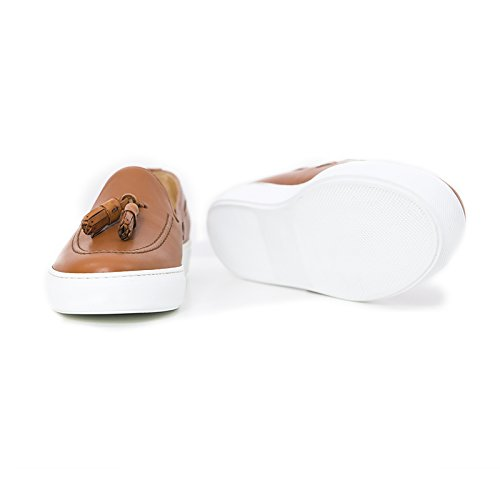 Sportive Made Mocassino in Uomo Cuoio ON Cuoio in Scarpe di Sneakers Italy Leather Uomo Slip Pelle Colore Sneakers fqCSvnZA