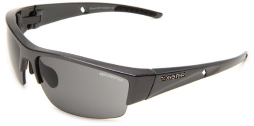 Bobster Ryval ERYV002AR Rimless Sunglasses,Black Frame/Smoked Lens