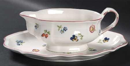 Villeroy & Boch Petite Fleur Relish/Gravy Underplate, Fine China -