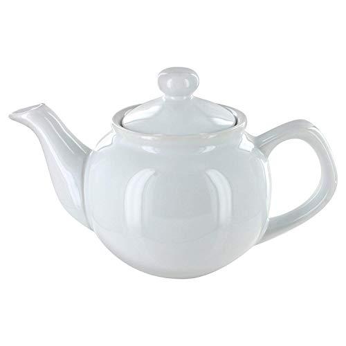 EnglishTeaStore Brand 2 Cup Teapot - Gloss Finish (White)