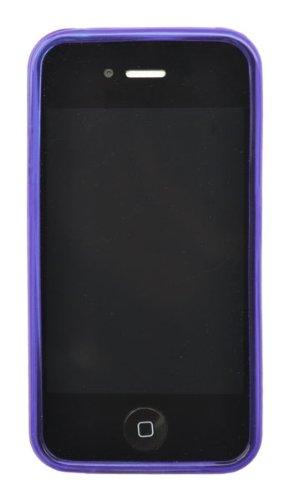 Ideus coip4stpuskpu Schutzhülle für Apple iPhone 4und iPhone 4s, Violett rauchgrau