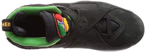 1b4180b242f8 Jordan 8 Retro Men s Shoes Black Light Concord Aloe Verde Noir 305381-004
