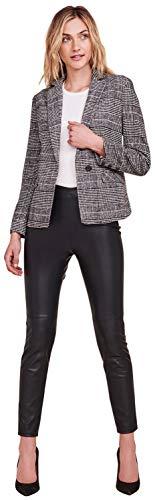 cupcakes and cashmere Women's Bela Yarn Dyed Plaid Blazer w/Striped Lining, Black 8