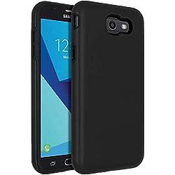 SENON Slim-fit Shockproof Anti-Scratch Anti-Fingerprint Protective Case Cover for Samsung Galaxy J7 V 2017,Galaxy J7 2017,Galaxy J7 Sky Pro,Galaxy J7 Perx,Galaxy J7 2017(AT&T),Black