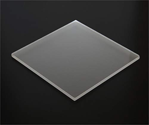 "1/8"" Frosted Matte Acrylic Sheet 12""x12"" Cast Plexiglass 3mm Thick AZM"