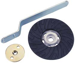 "Norton 9"" Diameter, 5/8""-11 Arbor, 6600 rpm Air-Cooled Medium Rubber Back-Up Pad (Pack of 5)"