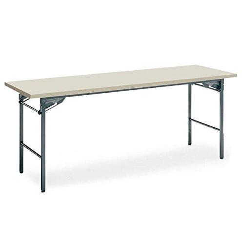 コクヨ 会議 ミーティング用テーブル KT-30シリーズ 脚折りたたみ式 棚なし 幅1800×奥行き600mm 天板カラー:F1 B00AT82B3M F1 F1