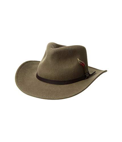 SCALA Men's Crushable Felt Outback Tan MD (7-7 1/8)