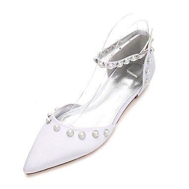 Boda 5 Satén 5 Dos Vestido Heelivory Noche Plana US6 Maryd'Orsay Rhinestone Piezas RTRY Shoes Mujeres'S Wedding amp;Amp; amp;Amp; De UK4 CN37 Confort Verano Primavera EU37 5 7 De f4n81x7