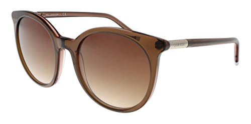 Calvin Klein CK4355S 201 Transparent Brown Round Sunglasses for womens (Calvin Klein Sonnenbrille)