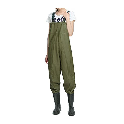 Women chest waders fishing bootfoot waders with boots pvc for Fishing waders on sale